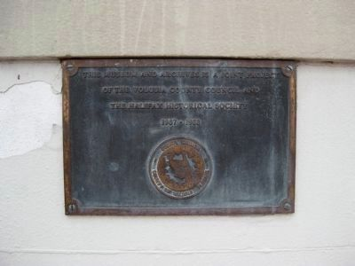 Halifax Historical Museum Plaque image. Click for full size.