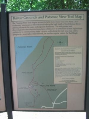 <i>Belvoir</i> Grounds and Potomac View Trail Map image. Click for full size.