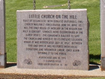 Little Church on the Hill Marker image. Click for full size.