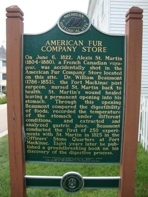 American Fur Company Store Marker image. Click for full size.