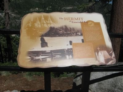 The Hermit of Emerald Bay Marker image. Click for full size.