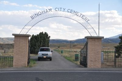 Entrance to the Bingham City Cemetery image. Click for full size.