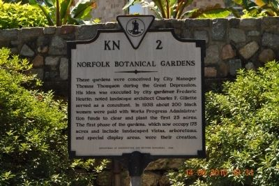 Norfolk Botanical Gardens Marker image. Click for full size.