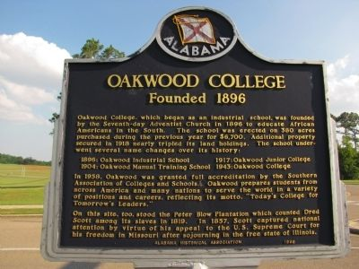 Oakwood College Marker image. Click for full size.