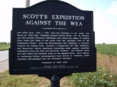 Side 'A' - - Scott's Expedition Marker image. Click for full size.