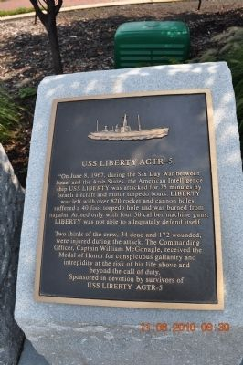 USS Liberty AGTR-5 Marker image. Click for full size.