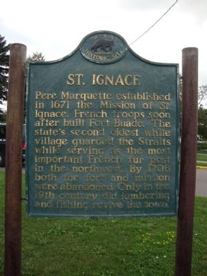 St. Ignace Marker image. Click for full size.