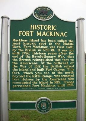 Historic Fort Mackinac Marker image. Click for full size.