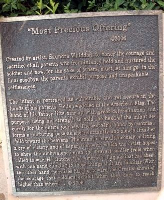 "((More Read-able)) Artist Plaque - - "" Most Precious Offering "" - by: Saundra Whiddon image. Click for full size."