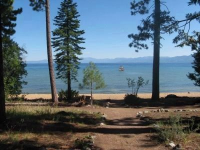 View of Lake Tahoe Seen From the Front Entrance of the Baldwin House image. Click for full size.