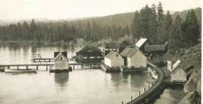 Tahoe City Waterfront, Buildings and Pier, Circa 1900 image. Click for full size.