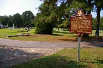 Segregated Burial Grounds Marker image. Click for full size.