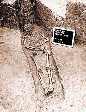 Skeletal Remains Found Near the Stockade Fort Thought to by those of James Birmingham image. Click for full size.