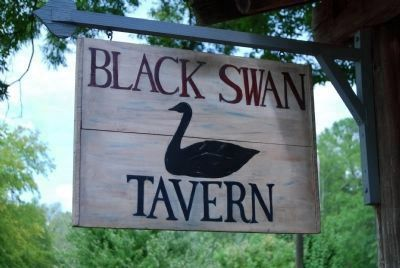 Black Swan Tavern Sign (Previous Name of the Cabin) image. Click for full size.