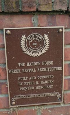 The Harden House Marker image. Click for full size.