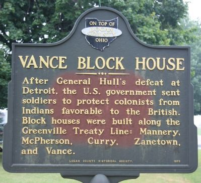 Vance Blockhouse Marker image. Click for full size.