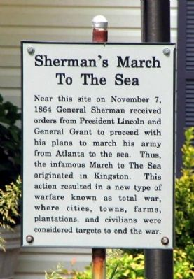 Sherman's March to the Sea Marker image. Click for full size.