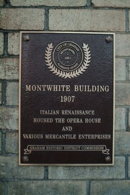 Montwhite Building Marker image. Click for full size.