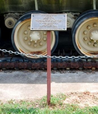M-60 A3 Main Battle Tank Marker image. Click for full size.
