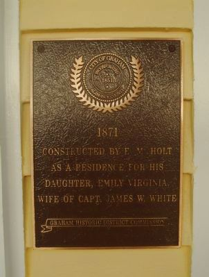 Captain James W. White House Marker image. Click for full size.