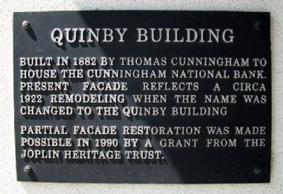 Quinby Building Marker image. Click for full size.