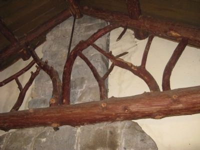 Architectural Detail Above the Fireplace in the Main Room of the Log Cabin image. Click for full size.