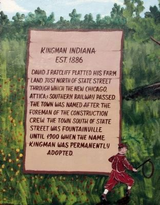 Kingman Indiana Marker image. Click for full size.
