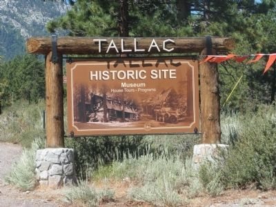 Sign at Entrance to the Tallac Historic Site image. Click for full size.