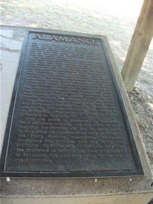 Battle of Alamance Marker image. Click for full size.