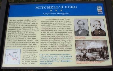 Mitchell's Ford Marker image. Click for full size.