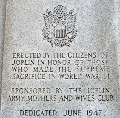 Joplin World War II Memorial Dedication image. Click for full size.