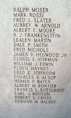 Joplin World War II Honor Roll image. Click for full size.