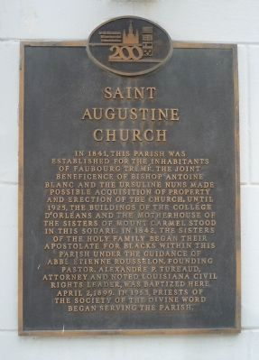 Saint Augustine Church Marker image. Click for full size.