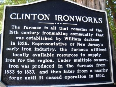 Clinton Ironworks Marker image. Click for full size.