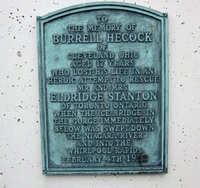 To the Memory of Burrell Hecock Marker image. Click for full size.