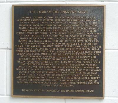 Tomb of the Unknown Slave Marker image. Click for full size.