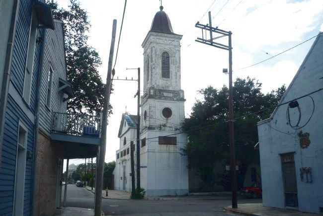 St. Augustine Catholic Church - view from St. Claude Avenue looking southwest image. Click for full size.