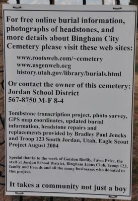 Additional Information Sources About The Cemetery image. Click for full size.