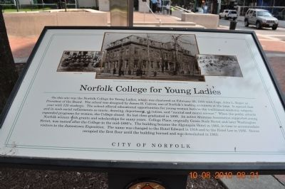 Norfolk College for Young Ladies Marker image. Click for full size.
