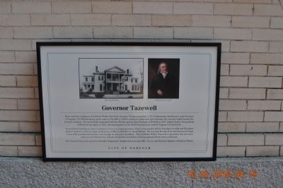 Governor Tazewell Marker image. Click for full size.