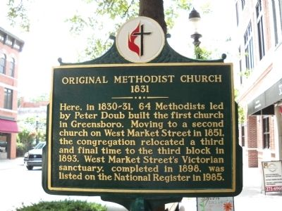 Original Methodist Church Marker image. Click for full size.