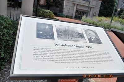 Whitehead House, 1791 Marker image. Click for full size.