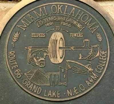 Seal on Miami, Oklahoma Marker image. Click for full size.