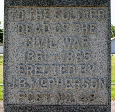 McPherson Post No 48 G.A.R. Civil War Memorial image. Click for full size.