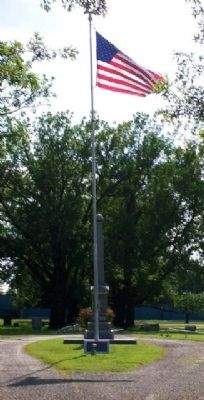 Moore McCoy VFW Post 2688 Flagpole and McPherson Post No 48 G.A.R. Civil War Memorial image. Click for full size.