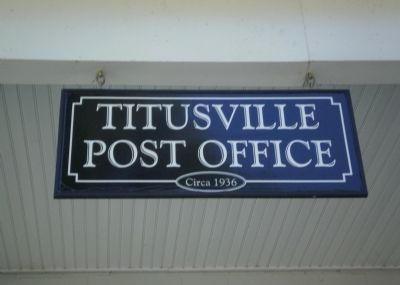 Titusville Post Office sign image. Click for full size.