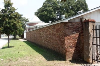 De L Aigle Brick Yard west wall, along Augusta's 3rd Street image. Click for full size.