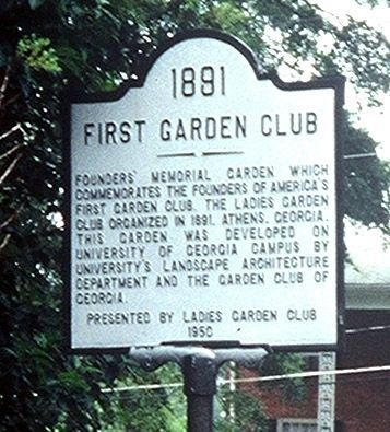 First Garden Club Marker image. Click for full size.