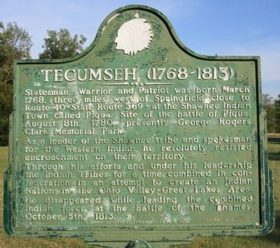 Tecumseh Marker image. Click for full size.