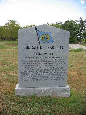 The Battle of Oak Hills Marker image. Click for full size.